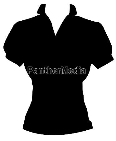 blouse black cloth glamour fashion illustration