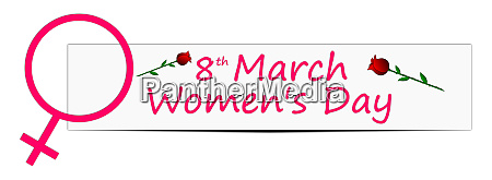 decorative international womens day banner