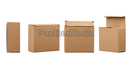 brown square cardboard box for transporting