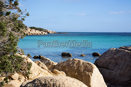 rock beach sardinia beautiful landscape with