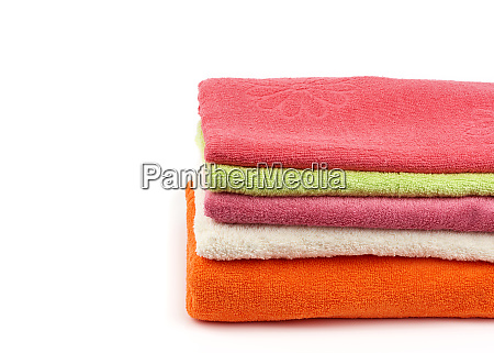 stack, of, colored, cotton, terry, folded - 28117546