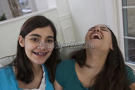 two teenage girls enjoying time together