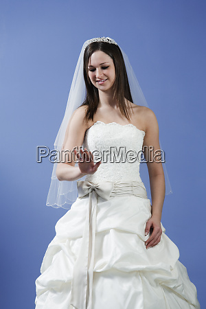 view of bride smiling
