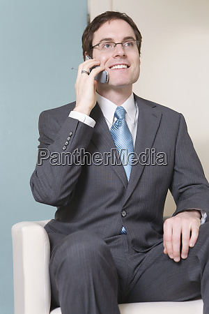 view of a business man on