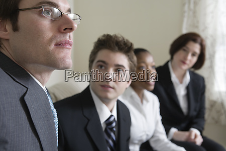 view of business people together