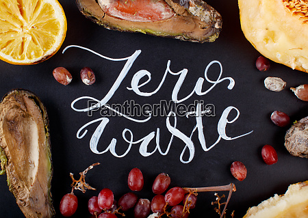 chalkboard with zero waste lettering and