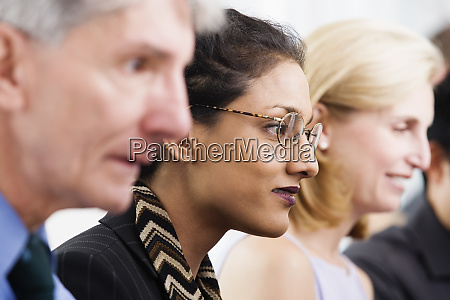 close up view of business executives