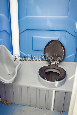 a commode in a camping toilet