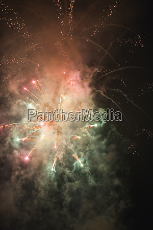 view of fireworks glittering in the