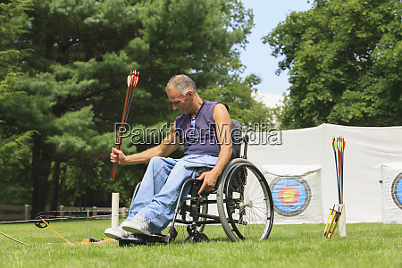 man in a wheelchair on an