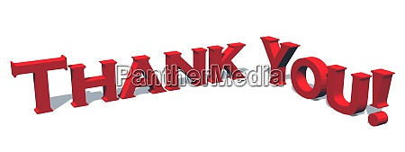 thank you lettering 3d text