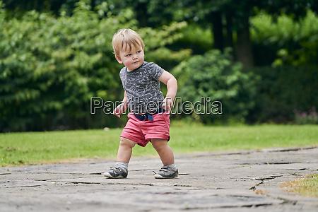 toddler exploring park