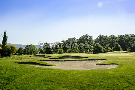 peaceful scenic view of golf course