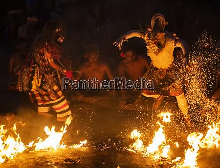 fire dance during a kecak dance