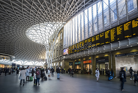 interior of london kings cross railway