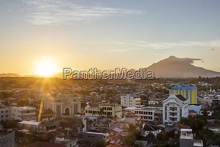 city of manado at sunset mando