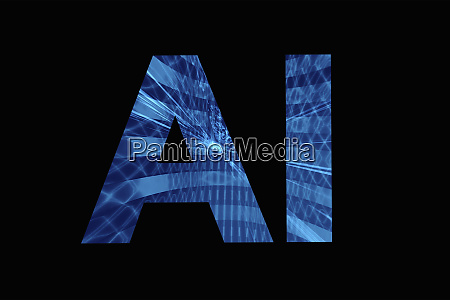 ai artificial intelligence lettering on black