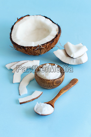 coconut oil in a bowl with
