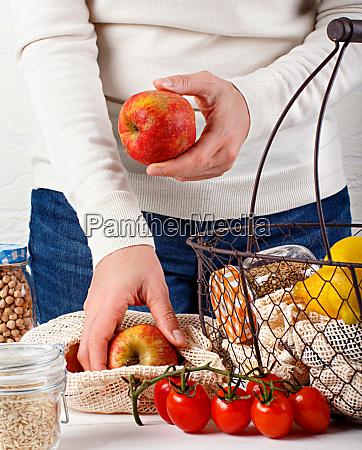 plastic free concept fresh vegetables