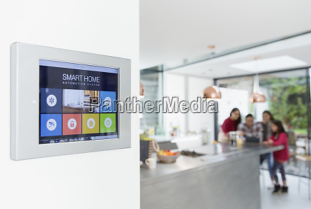 touch screen smart home alarm system