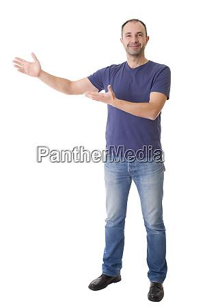 showing gesture