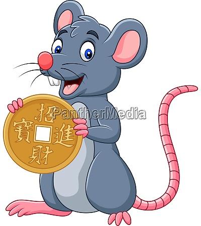 funny cartoon rat as symbol of