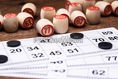 lotto game with cards and barrels