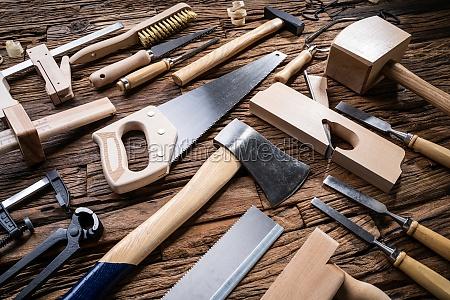 various carpenter tools