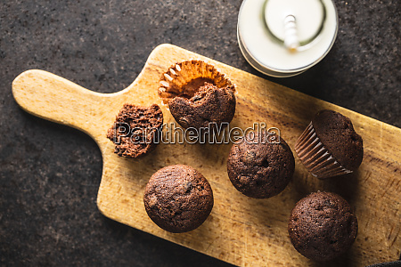 tasty, chocolate, muffins., sweet, cupcakes. - 28135250