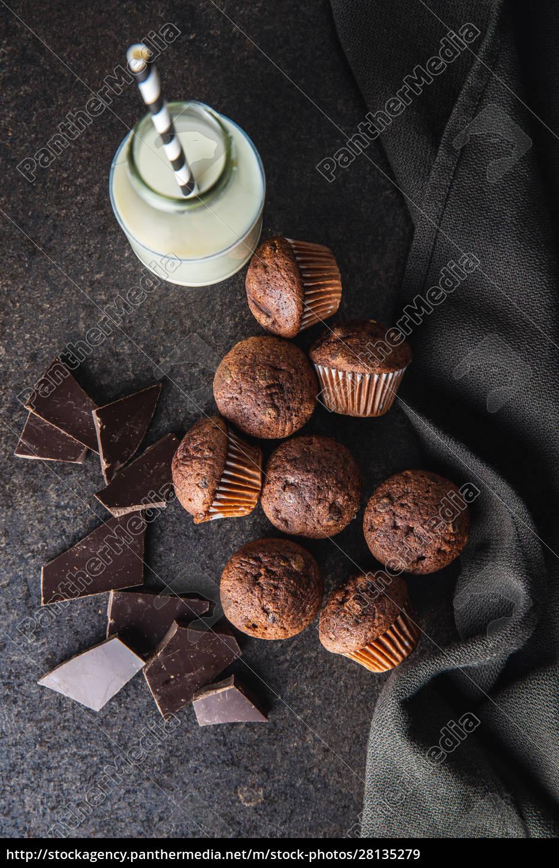 tasty, chocolate, muffins., sweet, cupcakes. - 28135279