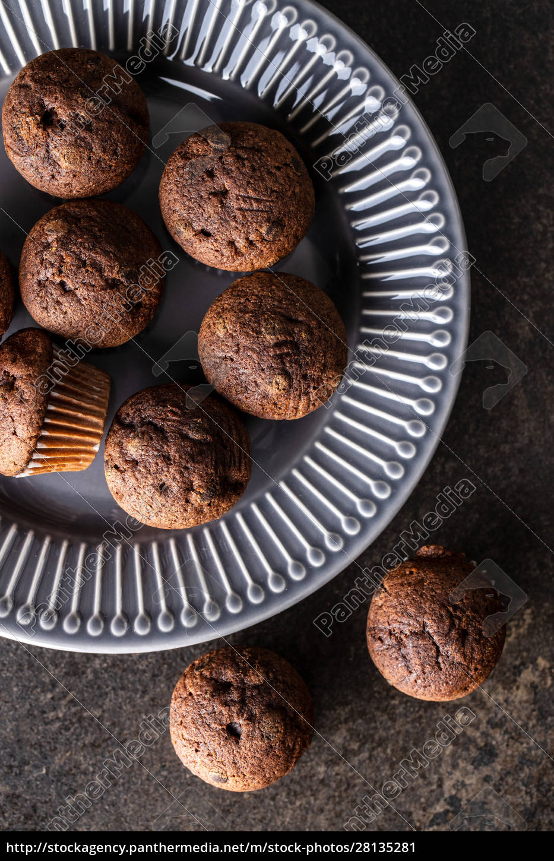 tasty, chocolate, muffins., sweet, cupcakes. - 28135281