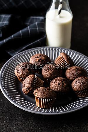 tasty, chocolate, muffins., sweet, cupcakes. - 28135282