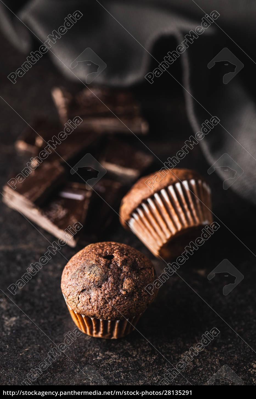 tasty, chocolate, muffins., sweet, cupcakes. - 28135291