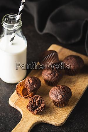 tasty, chocolate, muffins., sweet, cupcakes. - 28135292