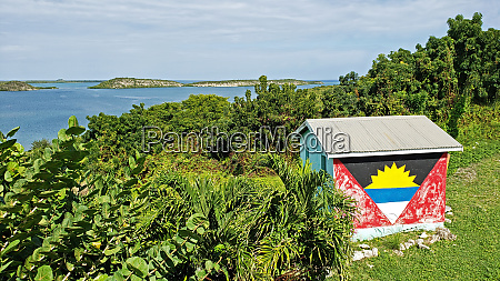 shed with antigua flag by mercer