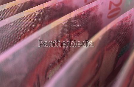 swiss francs closeup