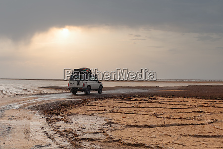 off road expedition car in danakil