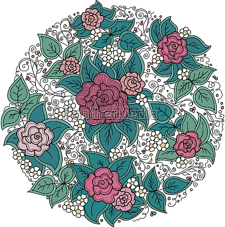 vector round floral pattern
