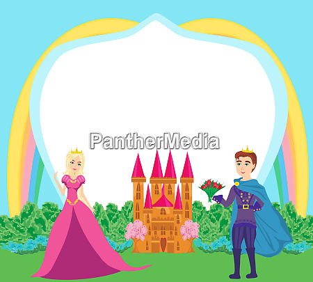 beautiful prince and princess in the