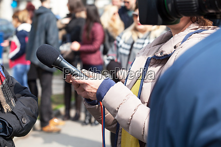 tv interview news conference public relations