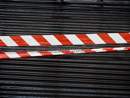 red and white barrier tape