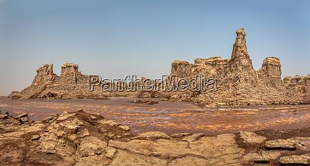 moonscape of dallol lake danakil depression