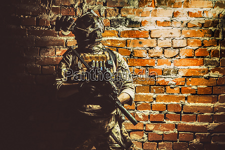 elite military soldier soldier with modern