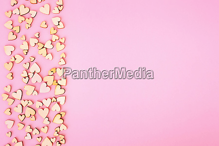 saint valentine background heart left and