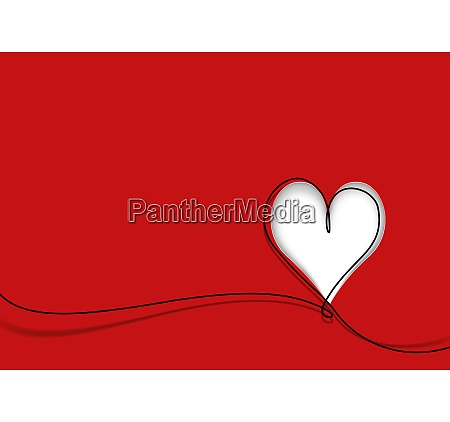greeting card with cute heart shape