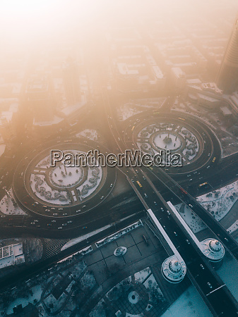 aerial view of daoli district harbin
