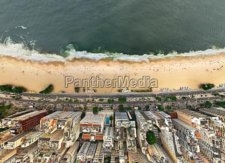 aerial view of copacabana rio de