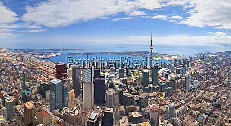 panoramic aerial view of toronto canada