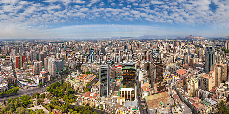 panoramic aerial view of santiago chile