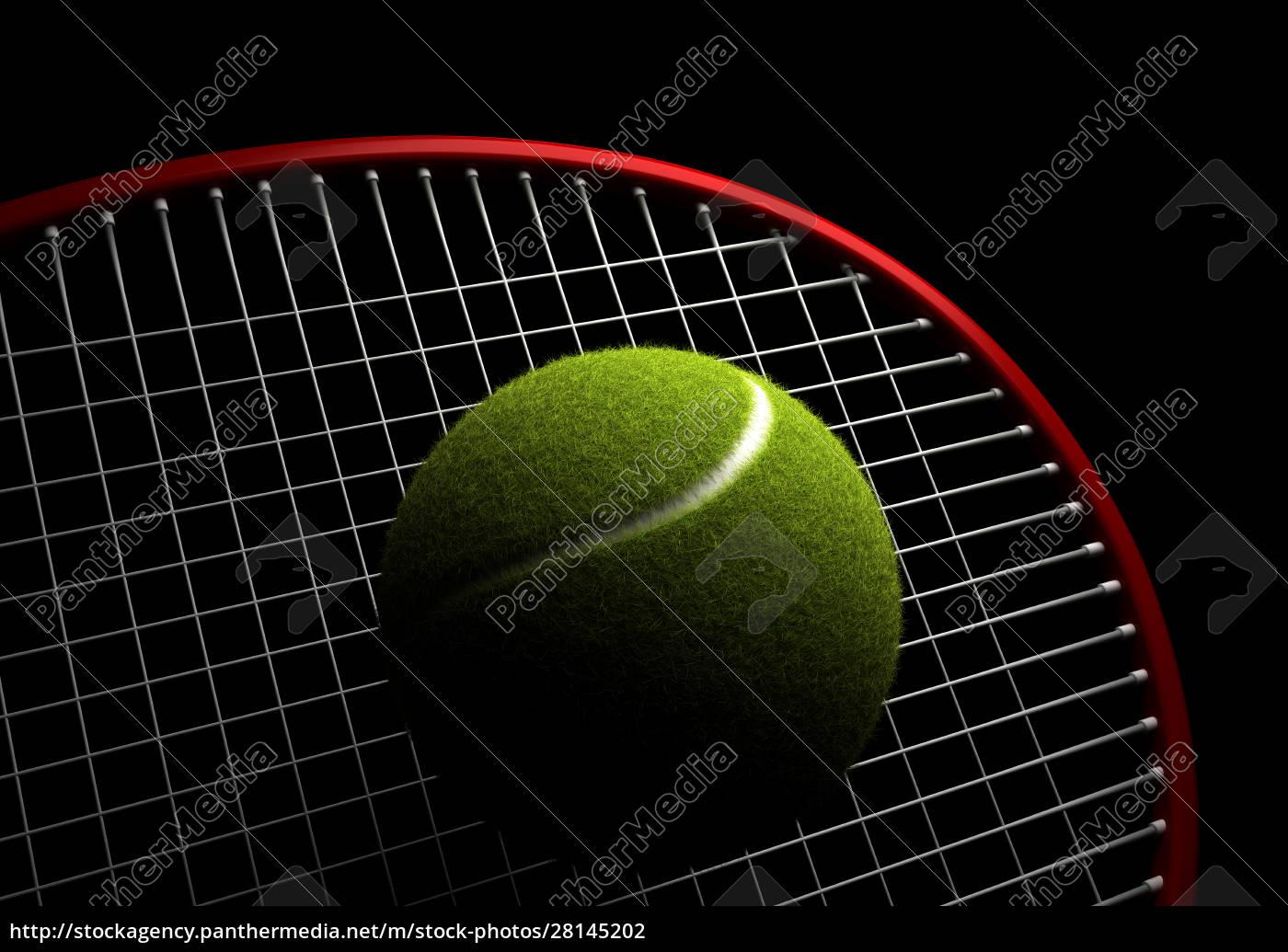 tennis, ball, and, racket - 28145202